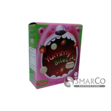 8993531772572 YUMMY BITES 123 STRAWBERRY CRACKERS YBRC16 50 GR