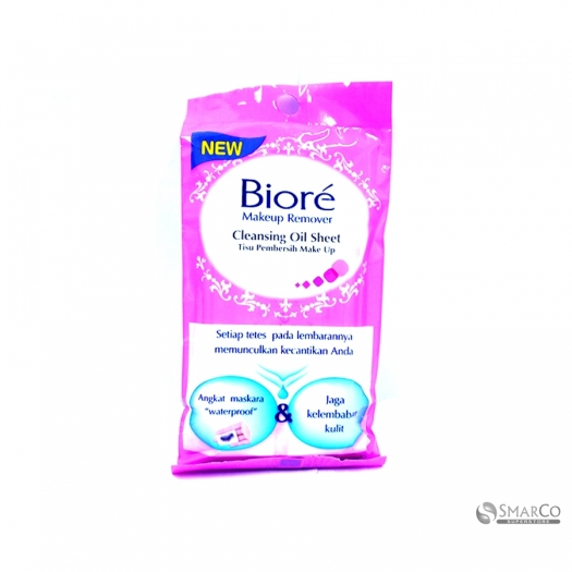 BIORE MAKE UP REMOVER CLEANSING OIL SHEET 10 SHEET 4901301214614 1015110020082