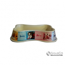 BONE SHAPED PET BOWL MULTICOLOR10001577 8992017306355