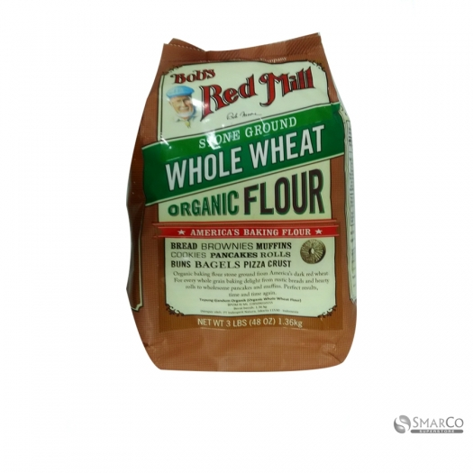 BRM ORG WHOLE WHEAT FLOUR 48 OZ 039978019875 1014040010443