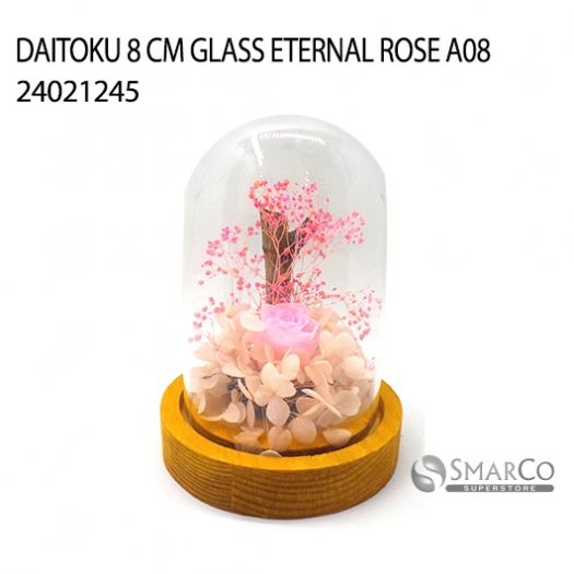 DAITOKU 8 CM GLASS ETERNAL ROSE A08 24021245