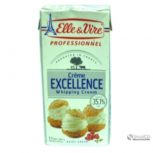 ELLE & VIRE CREAM WHIPPING 35.1% FAT 1 LTR	3161911703385 1017010030010