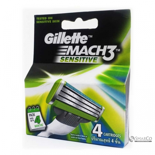 GILLETTE MACH3 TURBO SEN CART 4SX12 X6 1015080040064 7702018041169