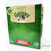 GREENIES DOG DENTAL TREATS REGULER BOX 642863102714 3033020020219