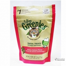 GREENIES FELINE DENTAL TREATS SAVORY SALMON 2.5 OZ 642863101571 3033020020215