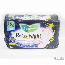 LAURIER RELAX NIGHT WING 30 PACK 16 SHEE 1011050030068 8851818936812