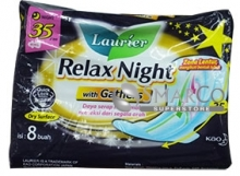 LAURIER RELAX NIGHT WITH GATHERS 35CM PACK 8 SHEET 1011050030071 8992727002387