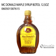 MC DONALD MAPLE SYRUP BOTOL 12.5OZ 060501587615