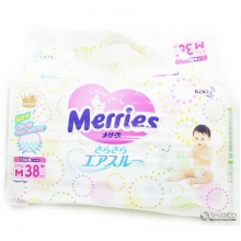 MERRIES DIAPERS M 38 SHEET 1015020010033 4901301508874