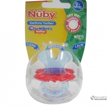 NUBY CHEWBIES SILICONE TEETHER BLUERED 6061010061082 048526006427