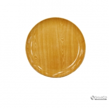 ROUND SLVRTRAY WITH WOOD GRAIN101268373 2024010010423 8992017305655