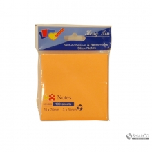 SQUARE COLOR PAPER 100 SHEETS10007542 3 X 3